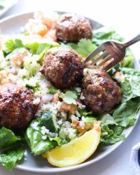 Whole30 Mediterranean Lamb Meatballs - Finished Dish