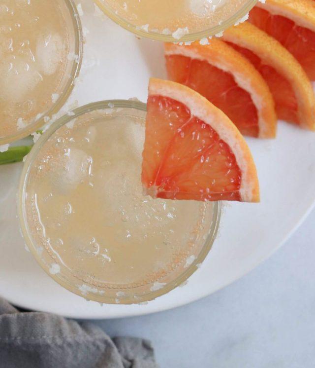 Grapefruit Sage Mocktail - Finished