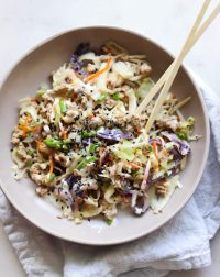 Whole30 Egg Roll in a Bowl with Sweet Mayo