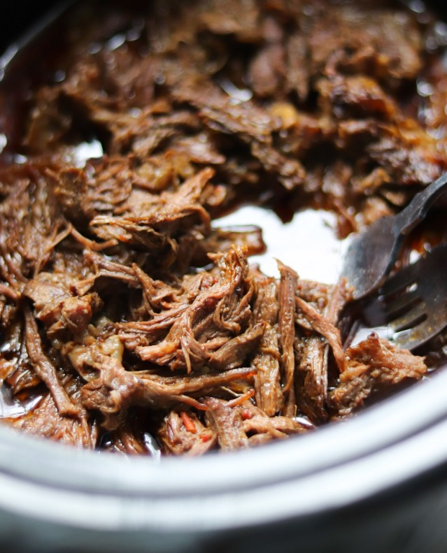 Cooked Shredded Barbacoa Beef