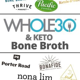 A collage of all the logos of Whole30 and Keto bone broth brands