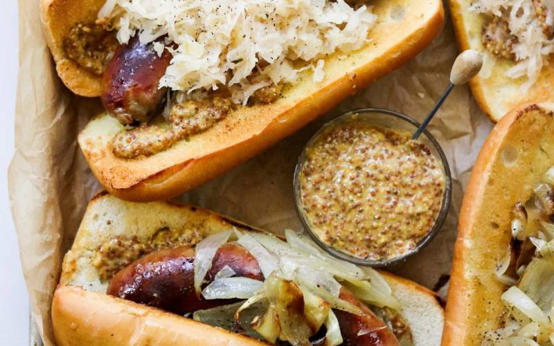 Oven Baked Brats & Onions