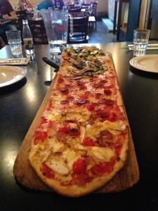 A yard of pizza!