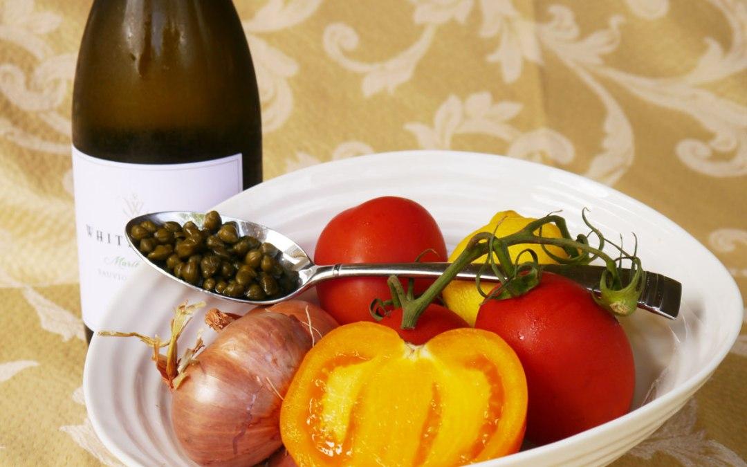 Tomato White Wine Caper Sauce
