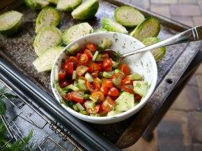 Tomato, Onion, and Dill relish