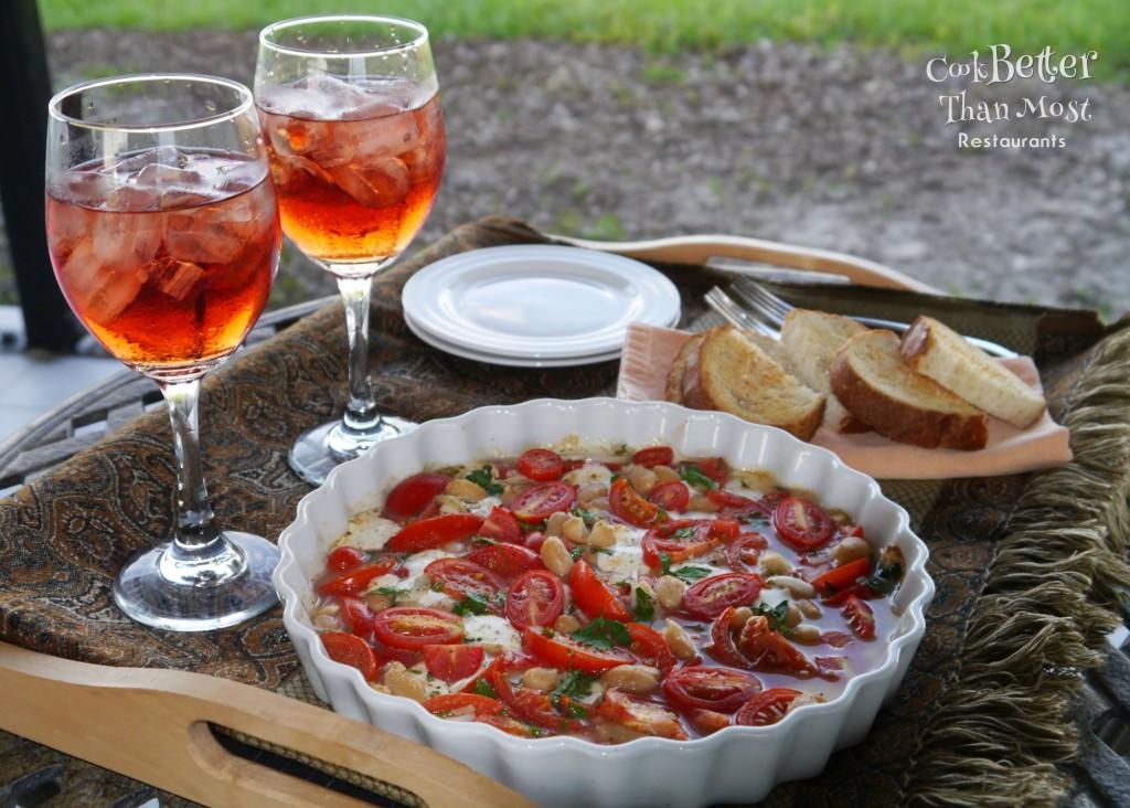 Marinated Cannellini Bean and Tomato Bruschetta