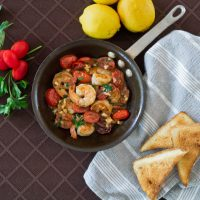Seared Cherry Tomato and Shrimp Tapas