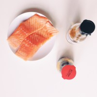Grilled salmon with home-made teriyaki sauce from ...