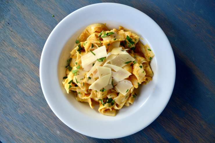 parmesan and roasted garlic butternut pasta