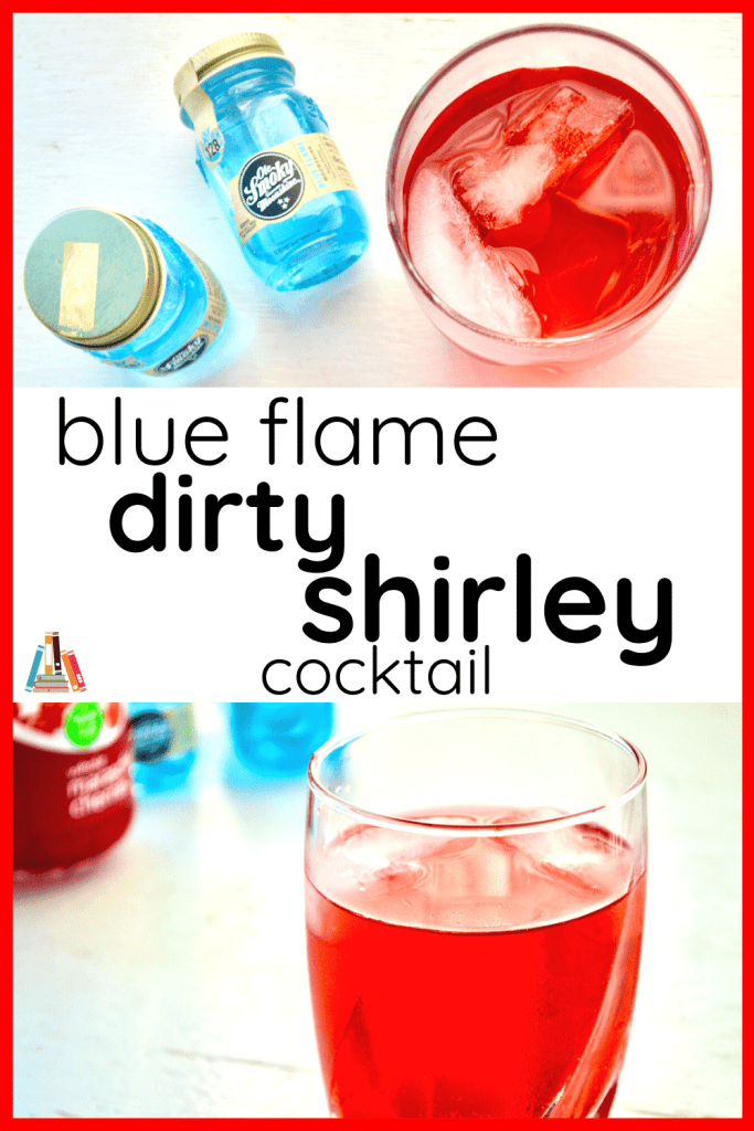blue flame dirty shirley cocktail