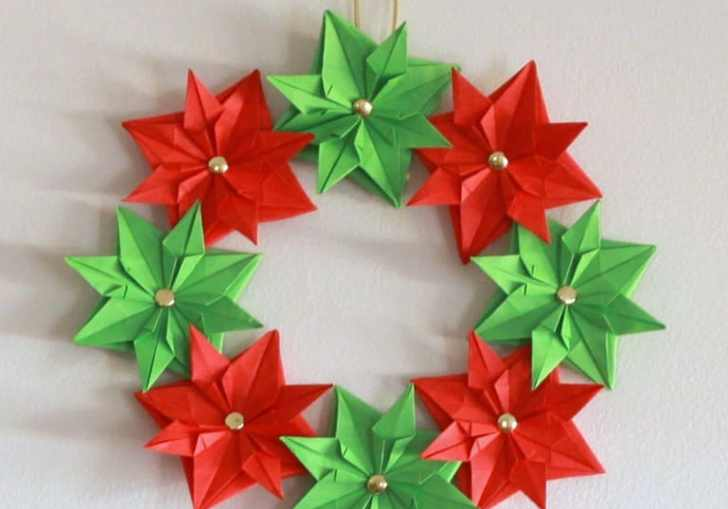 Christmas Origami Wreath