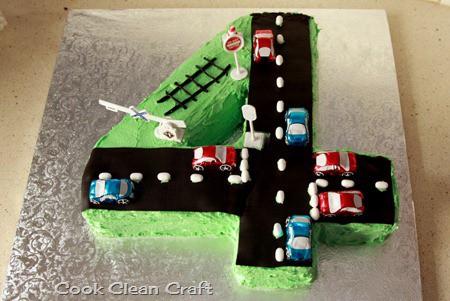 Number 4 Birthday Cake Cook Clean Craft