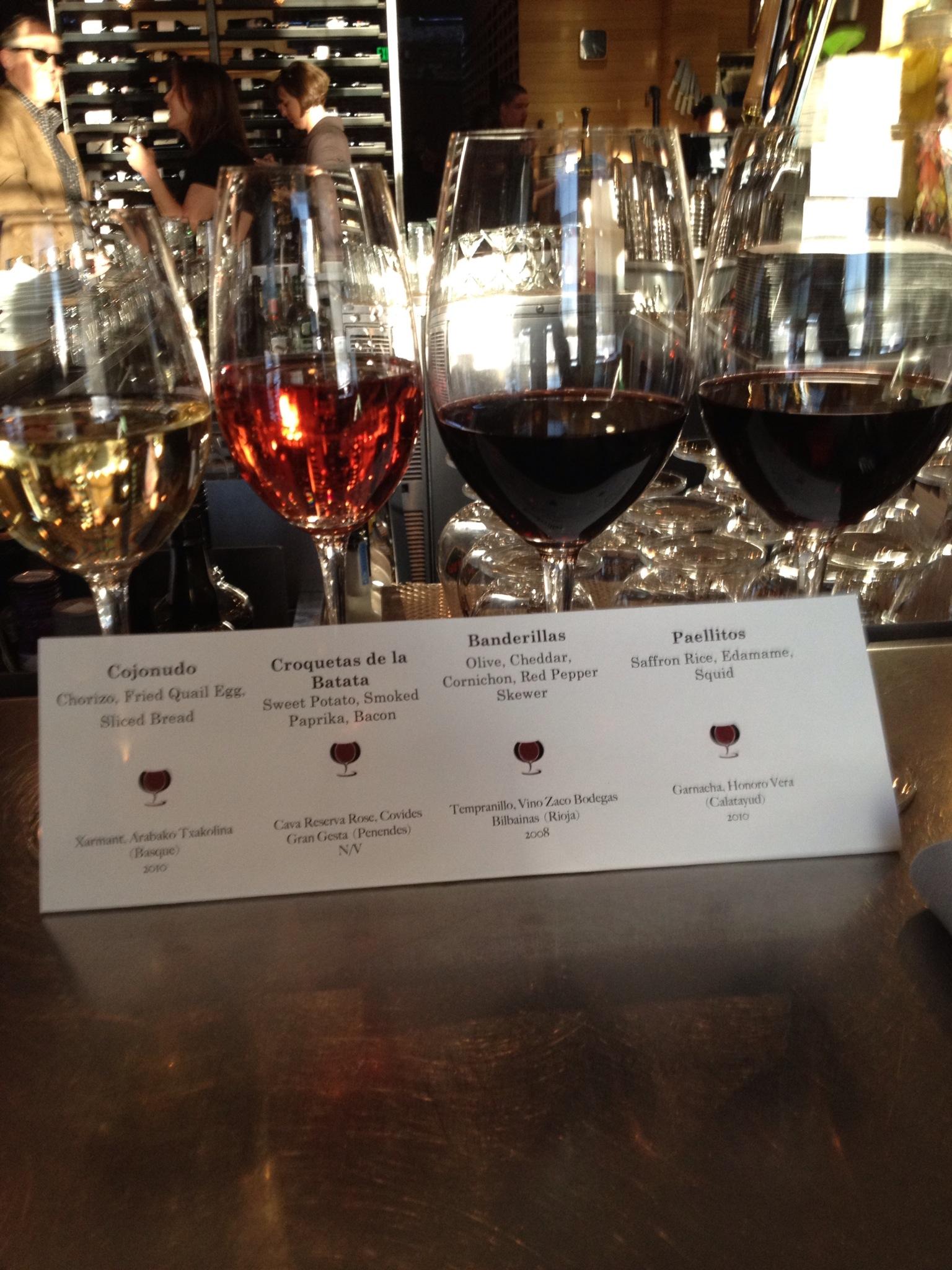 wine lineup 3.10.12