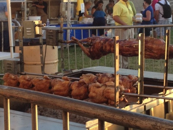 Chicken and Lamb on a Spit