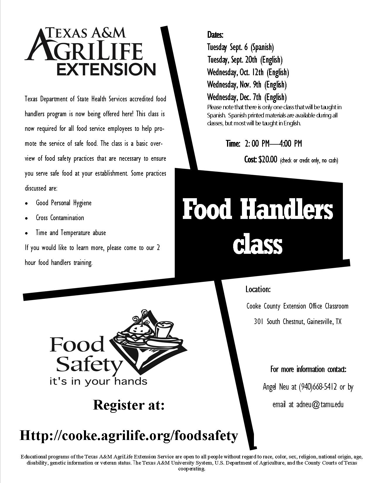 Food Handlers Class (Spanish Only)