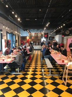 Hot Chicken Takeover's dining room, from the other end.