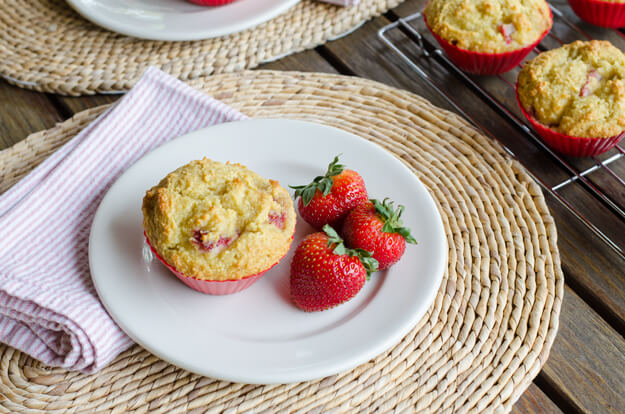 Strawberry Paleo Muffinsn from Cook Eat Paleo