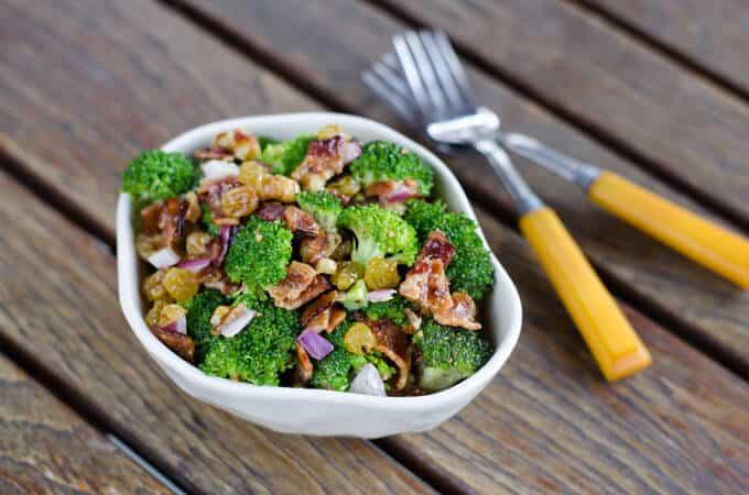 Paleo Broccoli Salad with Bacon