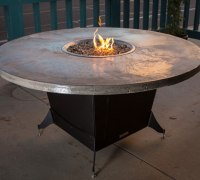 Hammered Copper End Table Outdoor Patio Tables Ideas. Idea ...