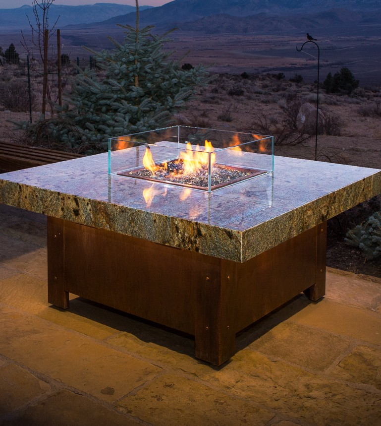 Balboa Stone Top Fire Pit Table
