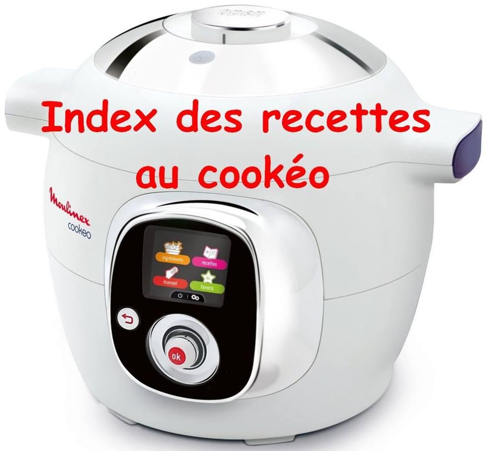 Index des recettes cookeo