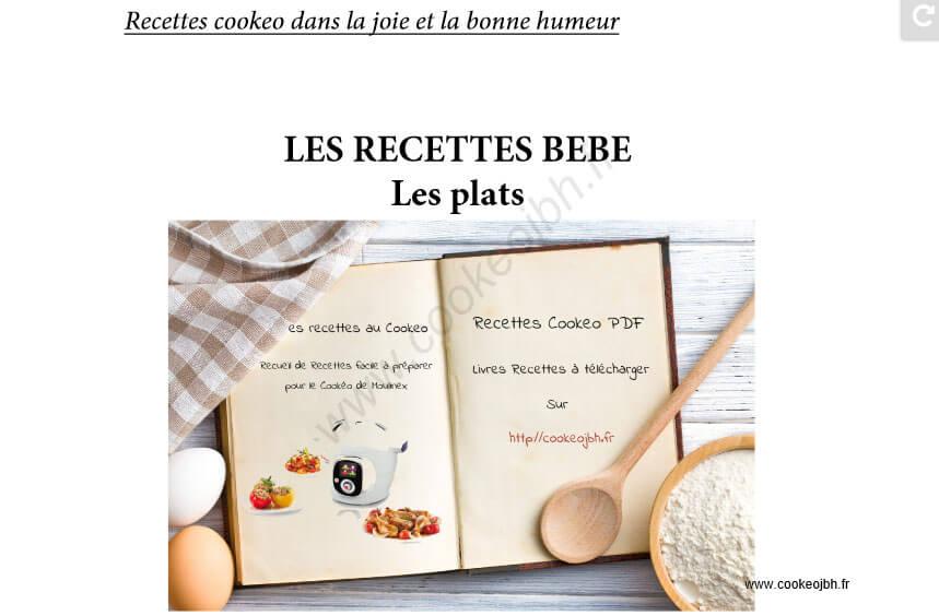 Livres De Recettes Cookeo Inedits Pdf Recettes Cookeo
