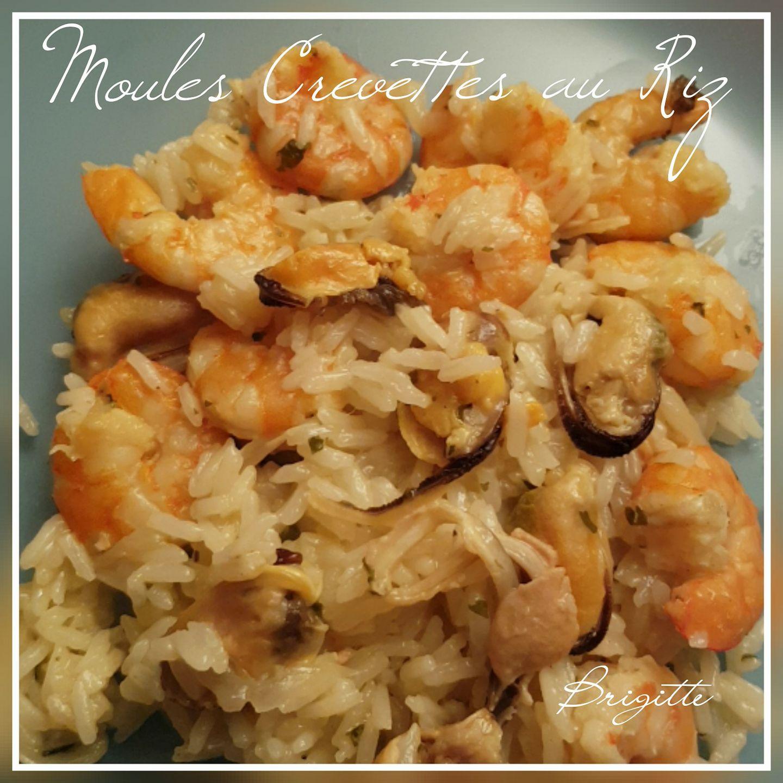 Moules et crevettes au riz