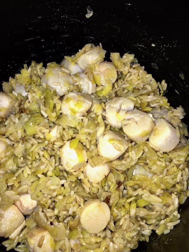 Risotto noix de st jacques poireaux et curry recettes cookeo - Noix de saint jacques curry ...