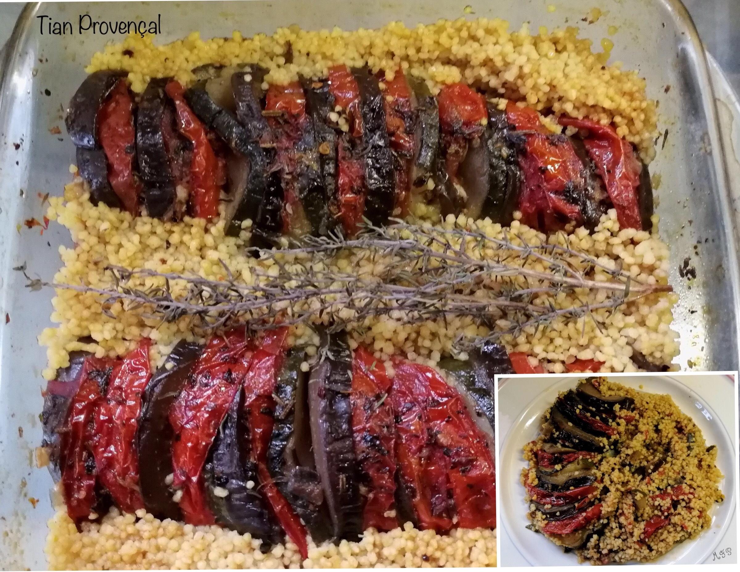 Recette Facile Du Tian Provencal tian provençal et semoule de couscous
