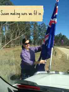 Gympie Muster - Susan making sure we fit in
