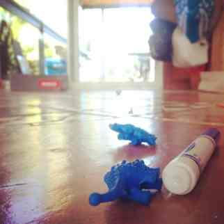 5. Blue. Assorted selection of discarded toys. On the floor. Always. #realityaday