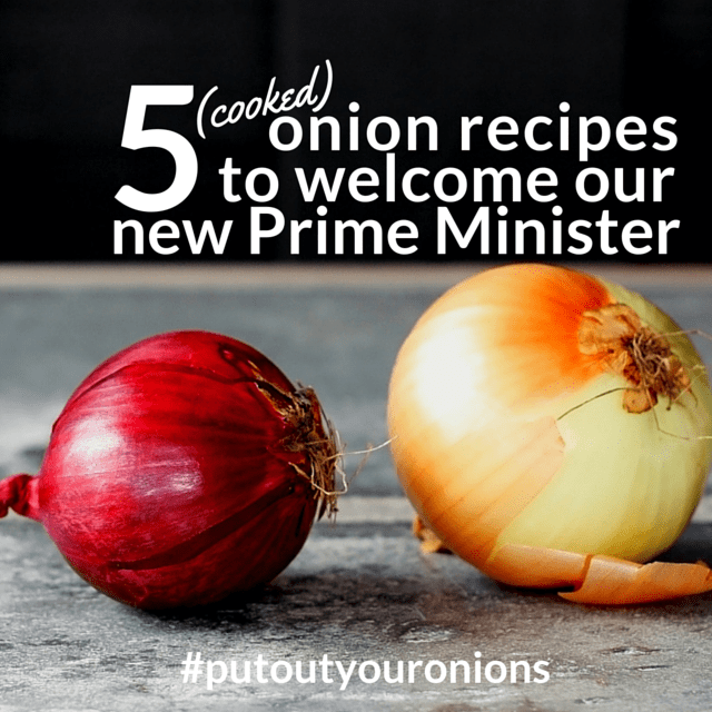Overnight, Australia got a new Prime Minister.  The changing of guard also signals a new era for Australia - a return to a more conservative time - where Aussies cook their onions before eating them.