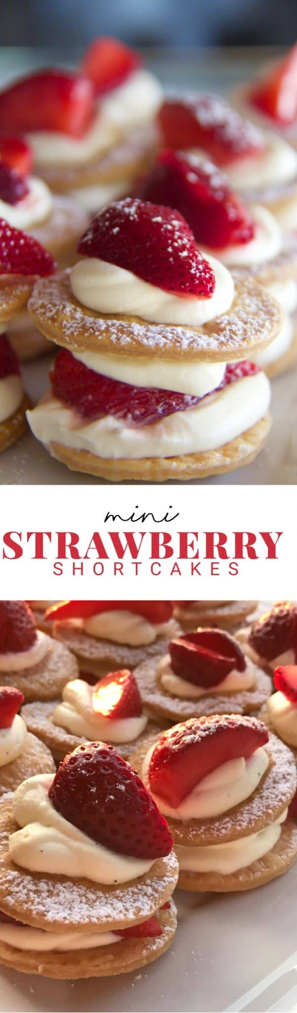 Strawberry shortcakes inspire memories of childhood. This easy recipe makes 16 mini strawberry shortcakes in just 25 minutes.