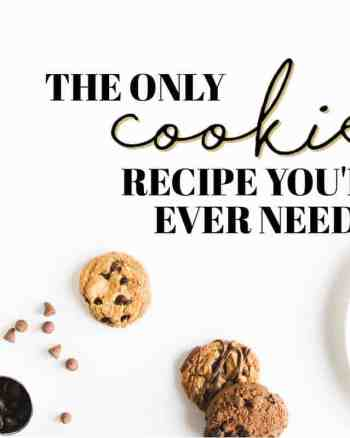 the only cookie recipe you'll ever need
