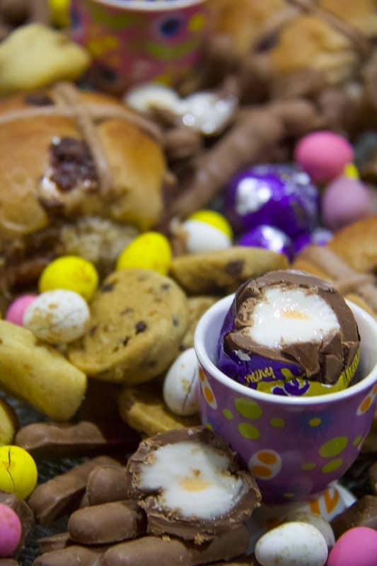 easter platter, dessert, cadbury creme egg