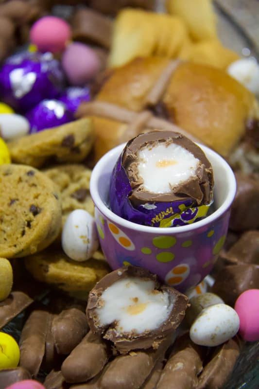easter, chocolate, dessert, easter platter
