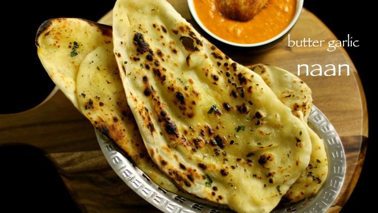 Garlic Butter Naan Recipe on Tawa Stove Top
