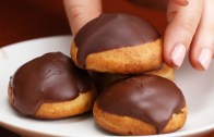 Chocolate Strawberry Cream Puffs