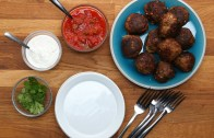 Cheese – Stuffed Taco Meatballs