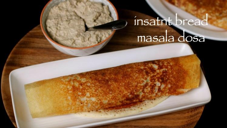 Instant bread masala dosa recipe – Instant bread dosa recipe