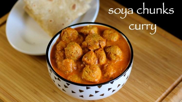 Soya chunks curry recipe – Soya bean curry recipe – Soya bean recipe