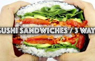 3 VEGAN SUSHI SANDWICH – ONIGIRAZU – RECIPES – ANNOUNCEMENT
