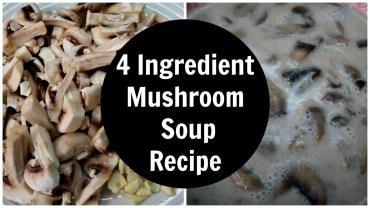 4 Ingredient Mushroom Soup Recipe – Dairy Free + Low Carb + Keto Diet