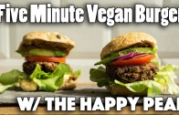 FIVE MINUTE VEGAN BURGER RECIPE – Ft – The Happy Pear