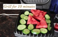 Grilled watermelon and cucumber recipe
