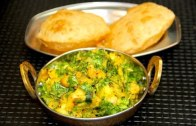 Aloo Chana Masala Bhaji Puri Video Recipe – Indian Meal Menu