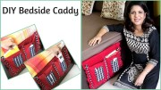 Easy DIY Bedside Caddy – Bedside Pocket Organizer