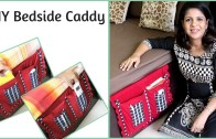 Easy DIY Bedside Caddy – Bedside Pocket Organizer