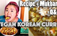 VEGAN KOREAN CURRY RICE RECIPE – MUKBANG -Q&A