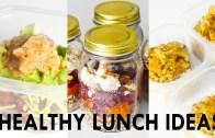 3 Healthy Lunch Ideas – Meal Prep – Vegetarian + Vegan options – Rachel Aust